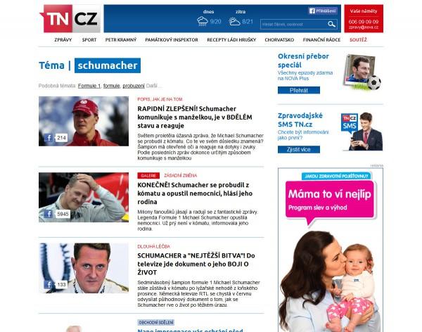 Nová podoba TN.cz: články podle tématu. Kliknutím zvětšíte