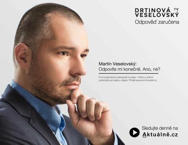 Veselovský v kampani na vlastní mediální produkt