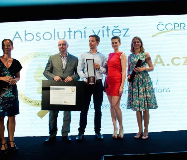 Absolutním vítězem se stal tým AMI Communications za projekt Bezkola.cz
