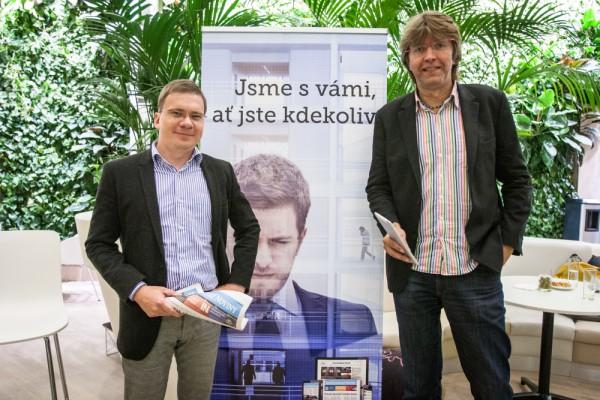 Ředitel redakcí Economie Vladimír Piskáček a šéfredaktor iHNed.cz Miloš Čermák. Foto: Vojtěch Marek