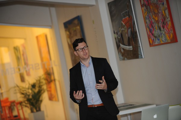 Petr Houzar, digitální marketér Karlovarských minerálních vod. Foto: Martin Kabát