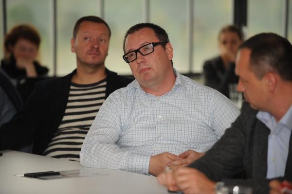 Zleva Daniel Grunt z Primy a jeho kolega Pavel Krbec z mateřského koncernu MTG. Foto: Martin Kabát