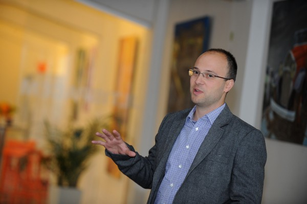 Dušan Gajdoštík představil nové reklamní videoformáty Seznamu. Foto: Martin Kabát