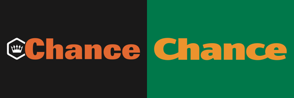Staré a nové logo sázkové kanceláře Chance