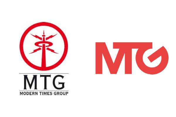 Logo Modern Times Group (MTG): vlevo předchozí, vpravo nové