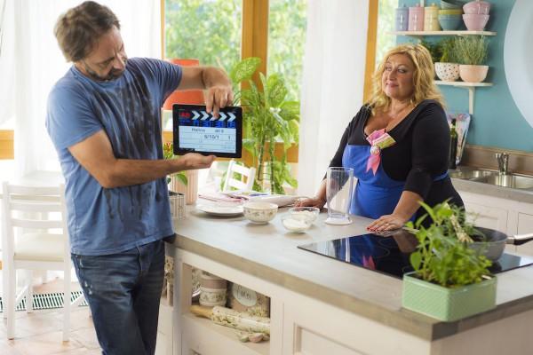 Halina Pawlowská v kuchyni za kamerou. Foto: TV Nova