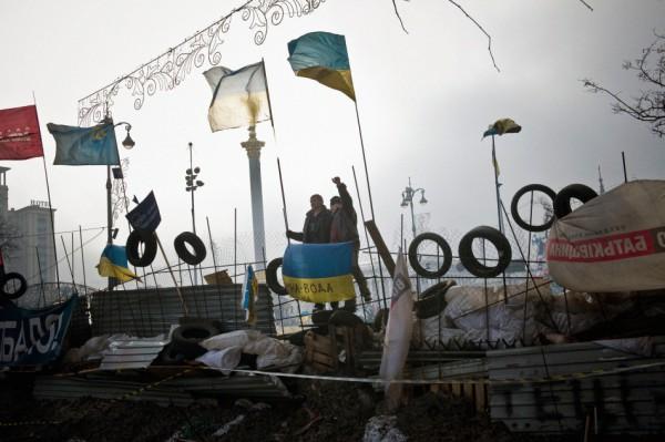 Snímek Karla Cudlína z Majdanu. Zdroj: ČTK