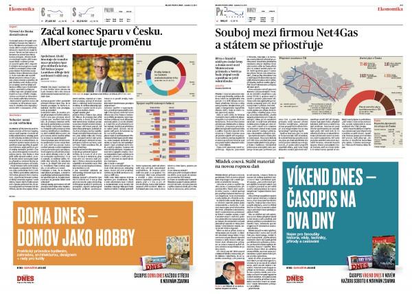 Nový design Mladé fronty Dnes. Kliknutím zvětšíte. Foto: Marvil