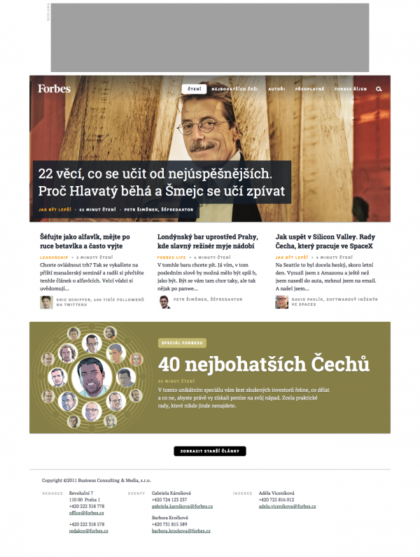 Forbes.cz: homepage