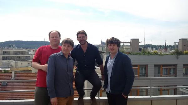 Online tým Forbesu: zleva Martin Malý, Zdeněk Mihalco, šéfredaktor Petr Šimůnek, Štěpán Horn