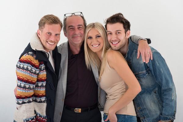 Zleva Tomáš Zástěra, šéf rádií Lagardere Michel Fleischmann, Zora Hejdová, Jindřich Ekl. Foto: Lagardere