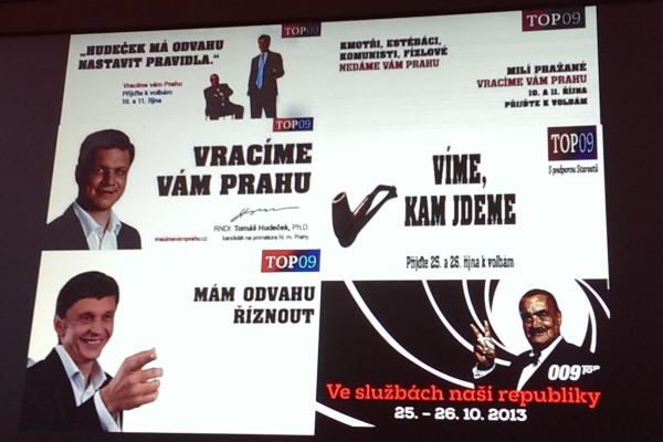 Z Topinkovy prezentace: TOP 09 je dobrá a hezká značka, ale každý měsíc mluvila o něčem jiném