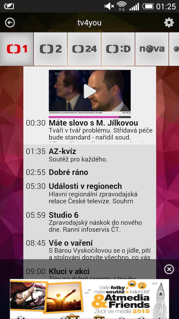 Rozhraní služby TV4you