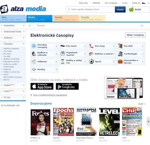 Nabídka tisku v online obchodně Alzy