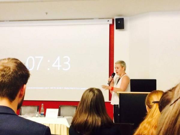 Kateřina Borovanská na letošní konferenci Forum Media v Praze