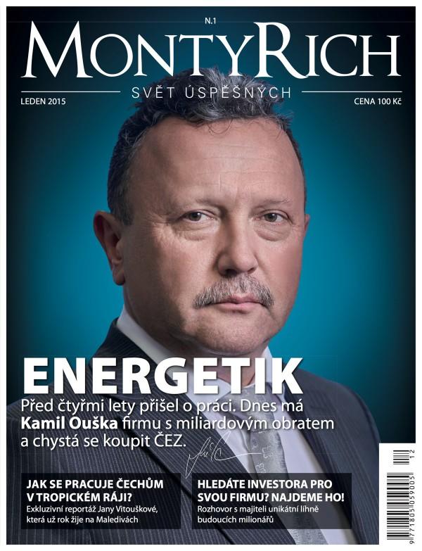 Obálka prvního vydání měsíčníku MontyRich