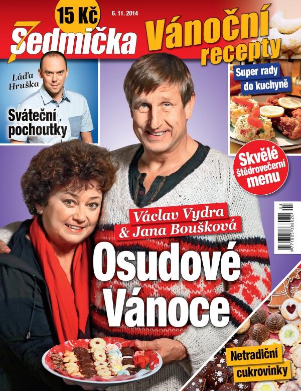 Titulní strana speciálu Sedmička Vánoční recepty