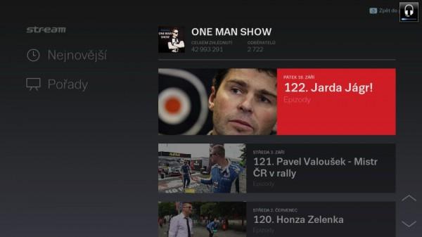 Aplikace internetové televize Stream.cz pro televizory Samsung