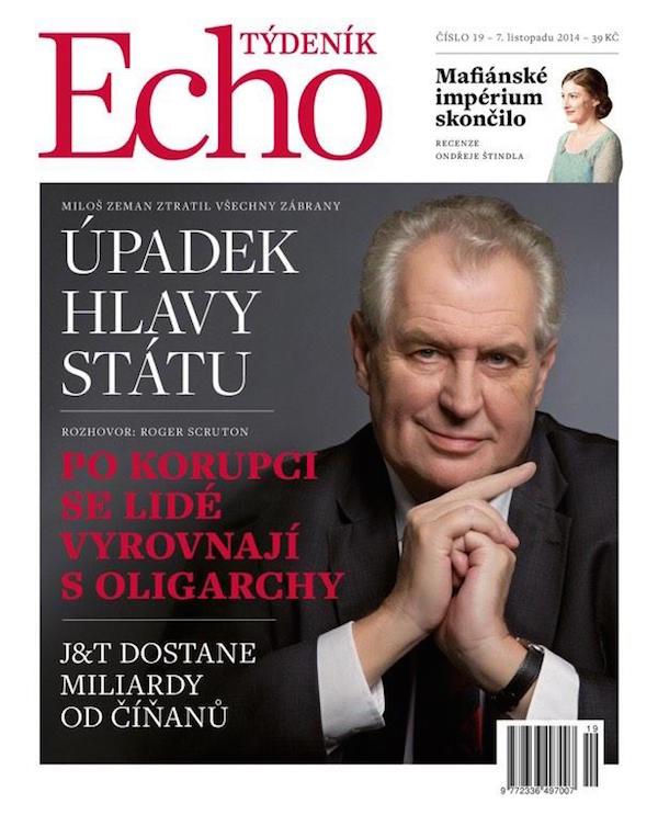 První obálka tištěné verze Týdeníku Echo. Repro: twitter.com/balsinek