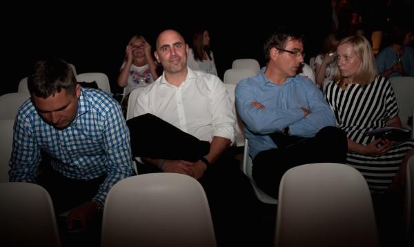 Zleva právník Novy Štěpán Peichl, zástupce šéfa David Stogel, šéf internetu Petr Horák a finanční ředitelka Klára Brachtlová. Foto: Martina Votrubová