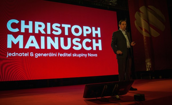 Na tiskové konferenci mluvil jen generální ředitel Mainusch. Foto: Martina Votrubová
