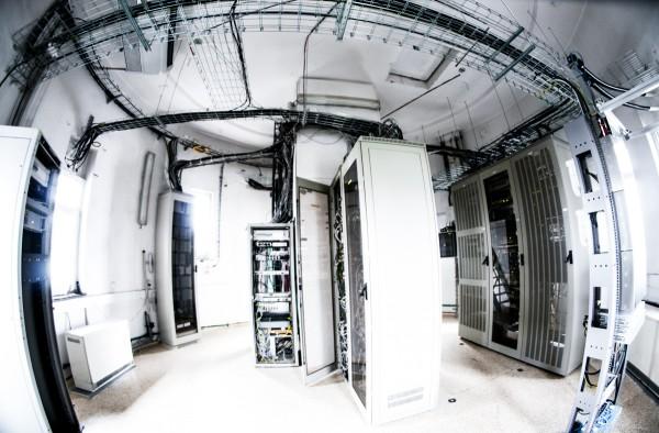 Technické vybavení televizní věže na Strahově. Foto: Martina Votrubová