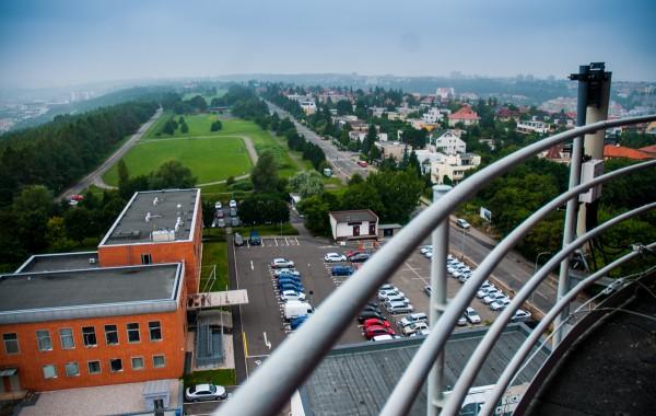 Pohled z televizní věže na Strahově. Foto: Martina Votrubová