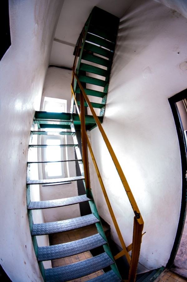 Přístupová cesta na vrchol televizní věže na Strahově. Foto: Martina Votrubová