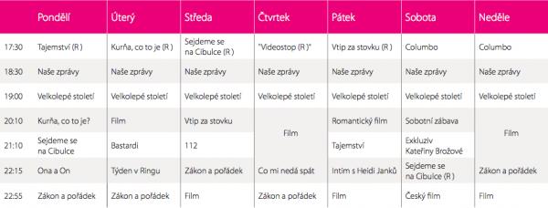 Programové schéma televize Barrandov
