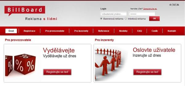 Aktuální rozhraní služby, uvedené v roce 2009