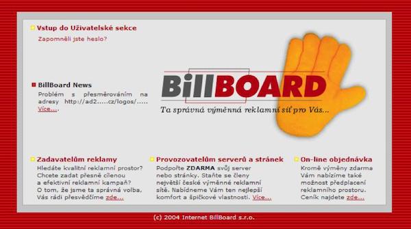 Jedno z historických rozhraní služby, která na českém internetu fungovala šestnáct let