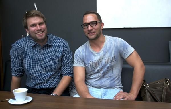 Nový šéfredaktor Pavel Cyprich (vlevo) a nový vydavatel Martin Kudera. Foto: Martina Votrubová