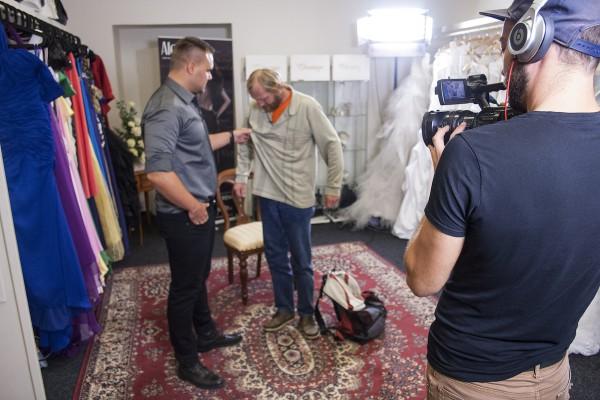 Výjev z chystaného pořadu Drsný stylista. Foto: TV Harmonie