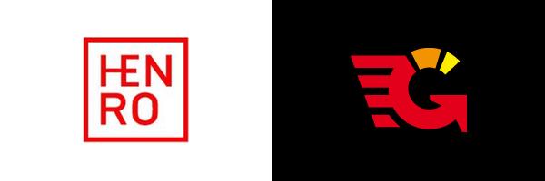 Značky agentur Henro (japonské označení pro poutníka) a Game Boost