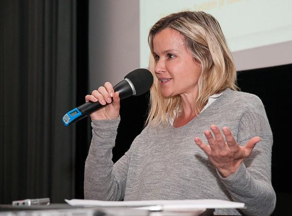 Patricie Honslová na červnové mikrokonferenci Médiáře. Foto: Martina Votrubová
