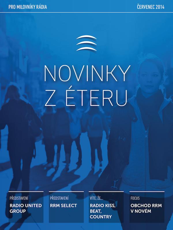 Novinky z éteru, bulletin Regie Radio Music v tabletové podobě