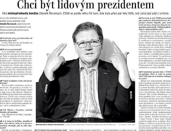 Hlavní rozhovor Lidových novin z 19. července 2014