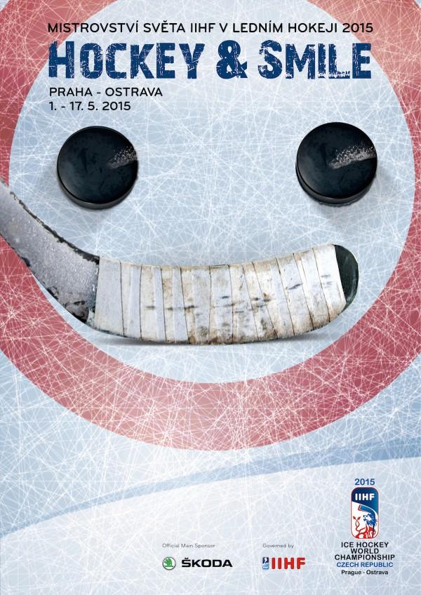 Oficiální vizuál mistrovství světa v hokeji 2015, od agentury Médea Creativity