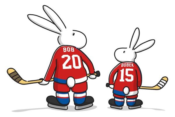 Bob a Bobek jako maskoti hokejového šampionátu 2015