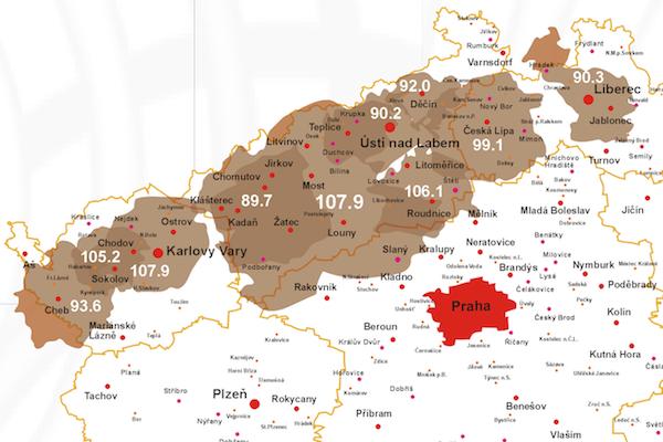 Rádio Gama je možné slyšet v západních a severních Čechách, od Chebu po Liberec