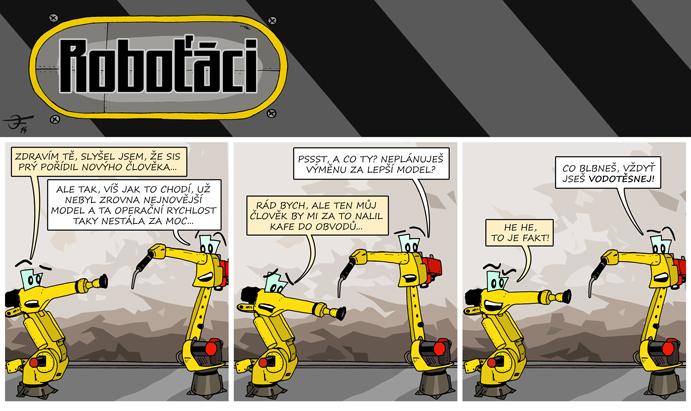 První díl komiksu Roboťáci