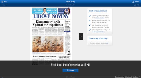 Lidové noviny: homepage