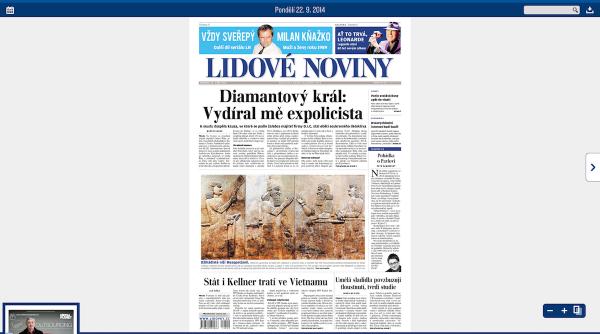 Lidové noviny v nové digitální čtečce