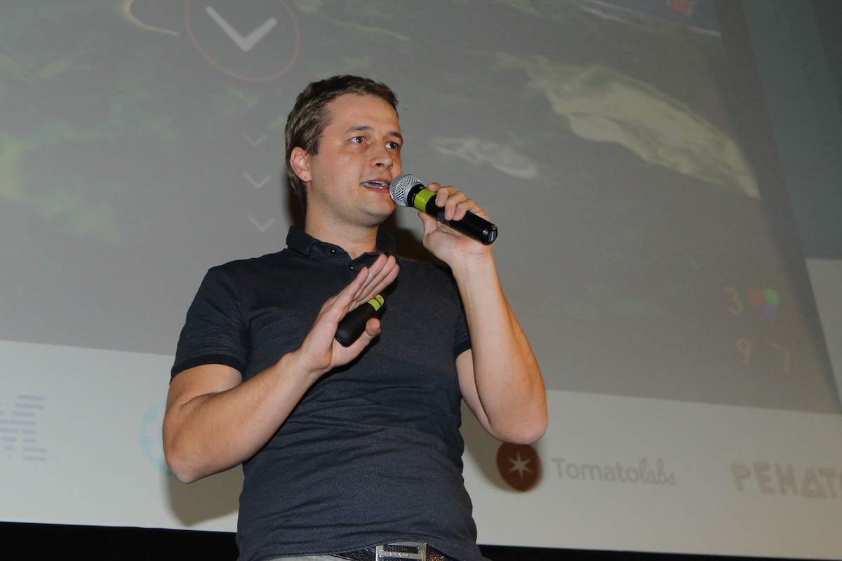 Patrik Prepsl přišel s hrou GeoCannon. Foto: Tomáš Pánek
