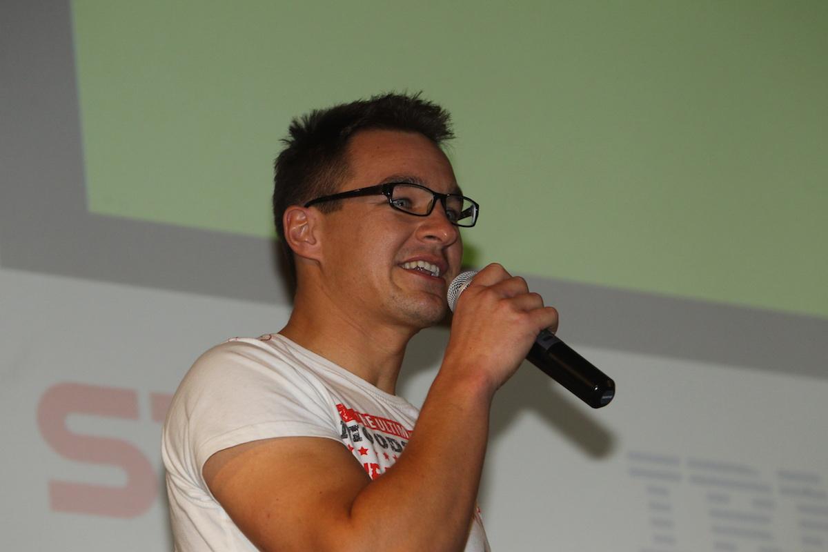 Martin Půlpitel představuje Fakturoid. Foto: Tomáš Pánek