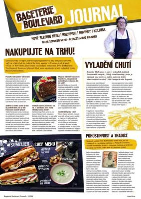 Propagační žurnál Bageterie Boulevard z podzimu 2014