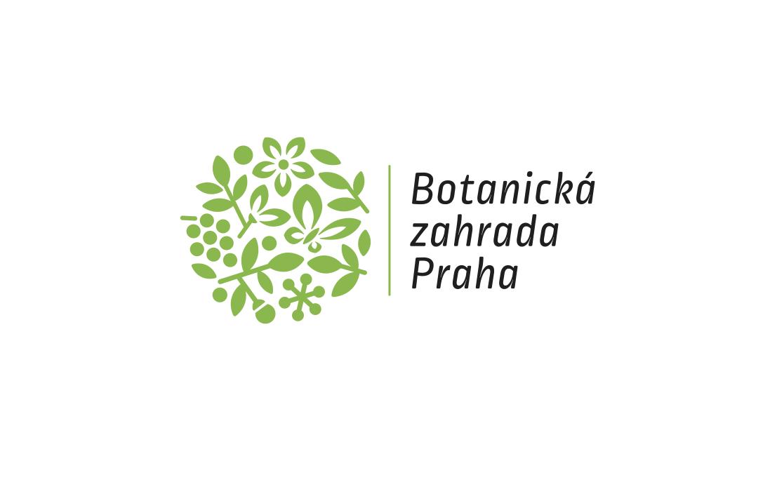 Návrh loga Botanické zahrady Praha od od Báze 3 studio
