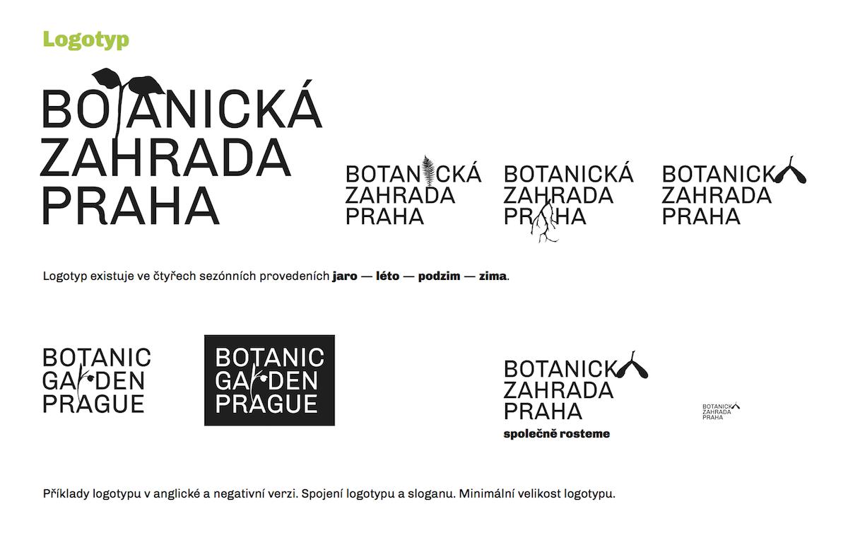 Návrh loga Botanické zahrady Praha od Filipa Blažka