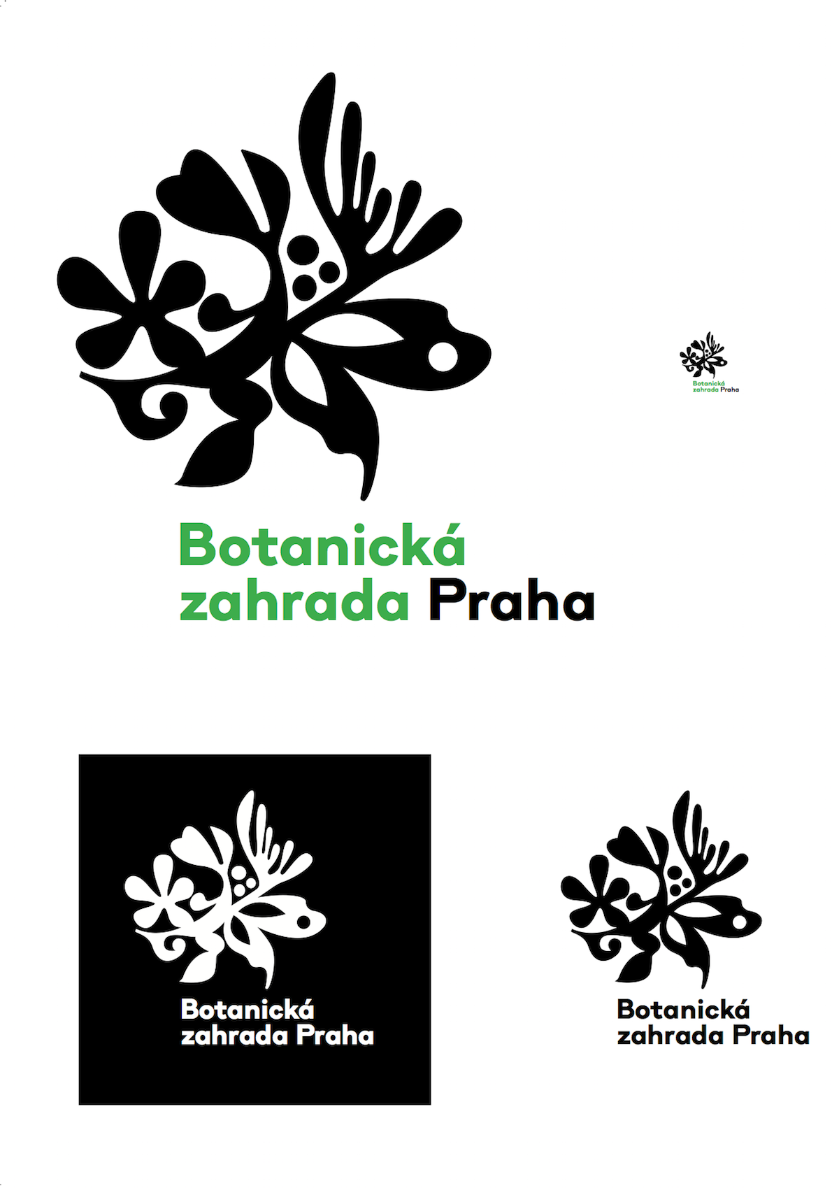 Návrh loga Botanické zahrady Praha od studia ReDesign