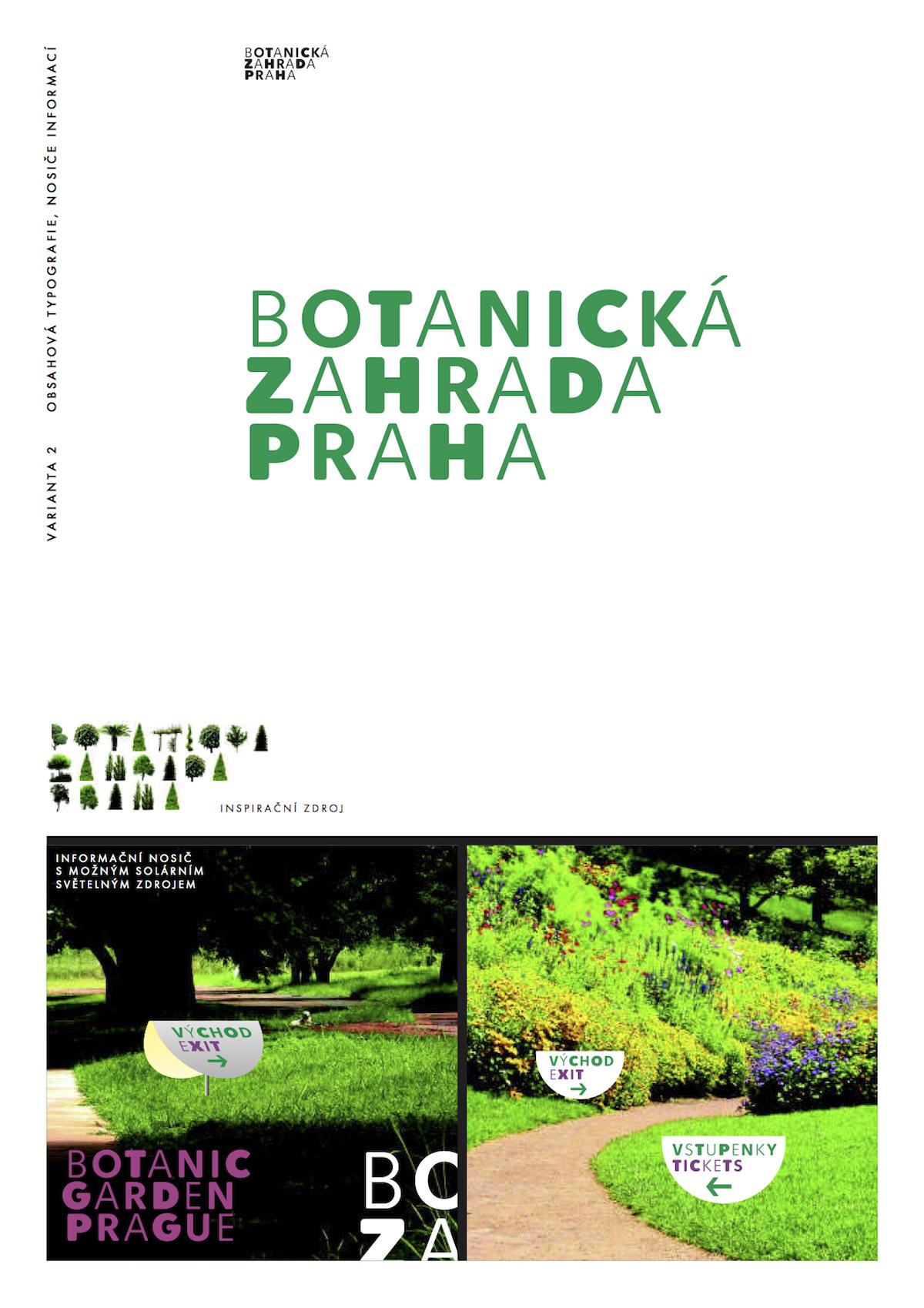 Návrh loga Botanické zahrady Praha od Kláry Spiškové